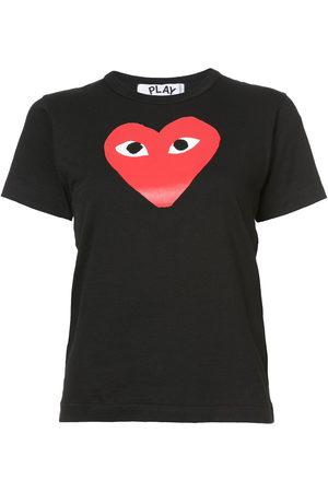 Comme des Garçons Women Short Sleeve - Heart print T-shirt
