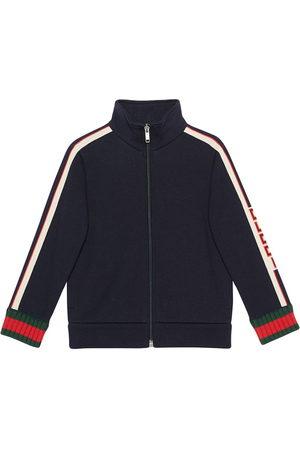 Gucci Boys Sweatshirts - Children's sweatshirt with Gucci jacquard trim