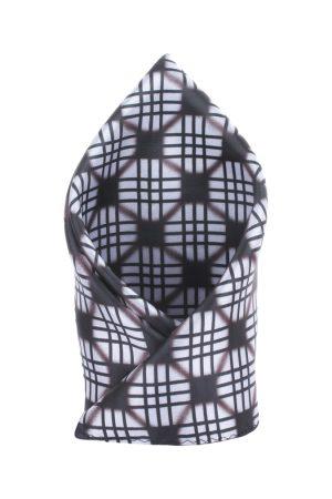Alvaro Castagnino Men White & Black Printed Pocket Square