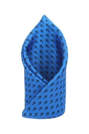 Alvaro Castagnino Blue & Black Printed Pocket Square