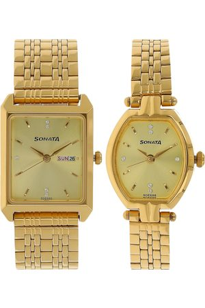 Sonata Men Set of 2 His & Her Analogue Watch NK70078083YM02