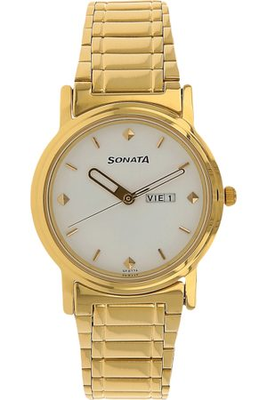 Sonata Men -Toned & White Analogue Watch