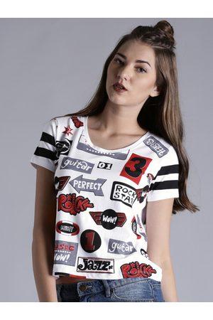 Kook N Keech Women Printed Crop T-shirt