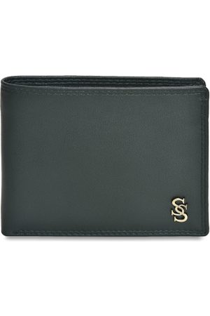 Second Skin Men Green Solid Two Fold Wallet