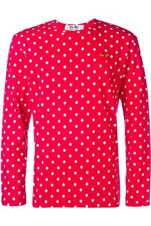 Comme des Garçons Long sleeve polka-dot T-shirt