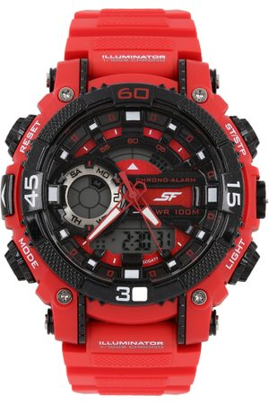 Sonata Xtrem Gear Men Red Digital watch NL77070PP02