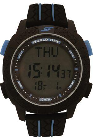 Sonata Men Black Digital Watch NK77058PP03
