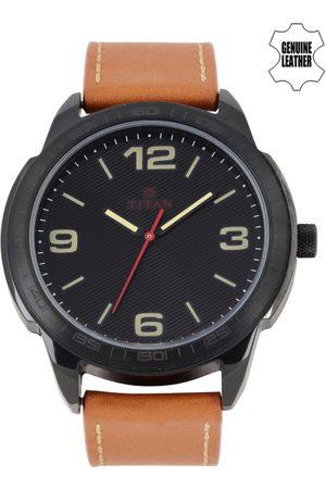 Titan Men Black Dial Watch 1585NL02