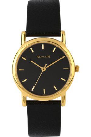 Sonata Men Black Dial Watch NF7987YL03J