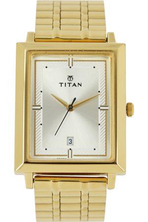 Titan Men Silver-Toned Dial Watch 1715YM01