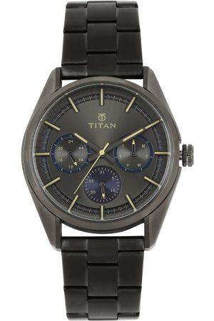 Titan Men Gunmetal-Toned Multi-Function Watch 90084QM01J