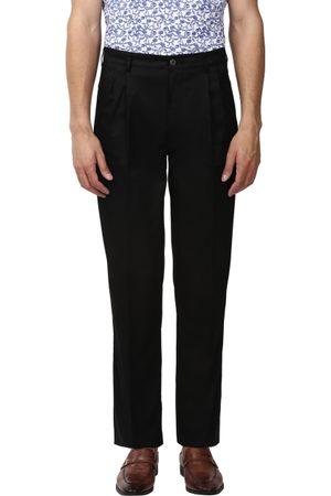 ColorPlus Men Black Classic Regular Fit Solid Chinos