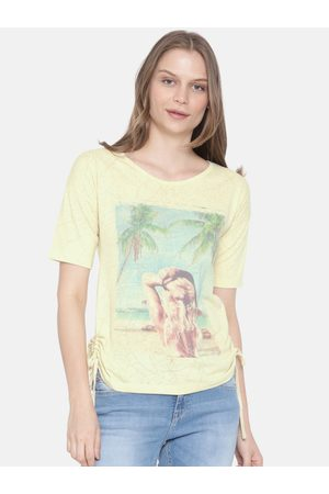 Lee Cooper Women Yellow Printed Top