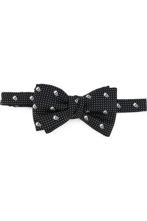 Alexander McQueen Skull-print bow tie