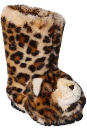 Dolce & Gabbana Leopard Plush Boots