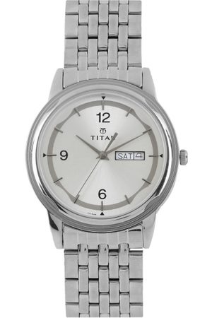 Château Roubine Men Sliver-Toned Dial Watch NH1638SM01