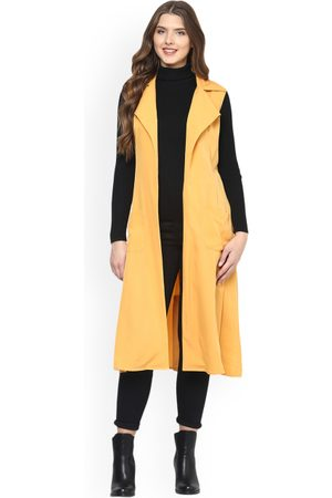 MABISH by Sonal Jain Women Yellow Solid Open Front Shrug