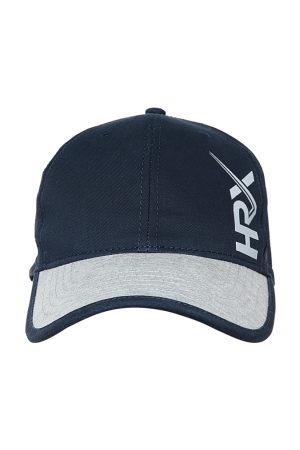 HRX Men Navy Blue & Grey Colourblocked Lifestyle Cap