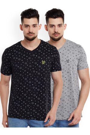 VIMAL JONNEY Men Pack of 2 V-Neck T-Shirts