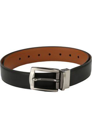 Pacific Men Black & Tan Reversible Solid Belt