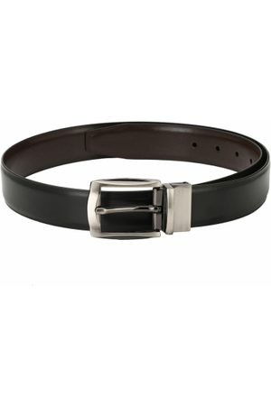 Pacific Black and Brown Reversible 50 Inch Faux Leather Casual And Formal Men Belt