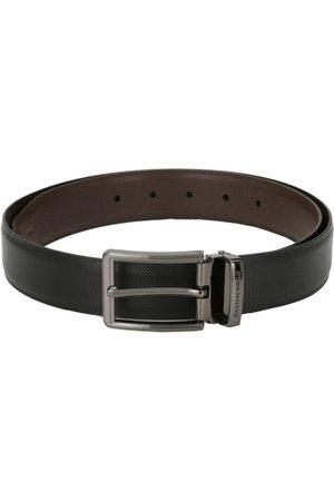 Pacific Men Black & Brown Textured Reversible Belt