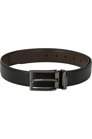 Pacific Men Black & Brown Textured Reversible Belt