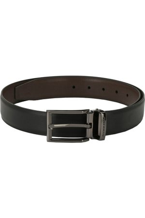 Pacific Men Black & Brown Solid Reversible Belt