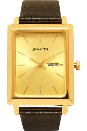 Sonata Men -Toned Analogue Watch NK7078YL04