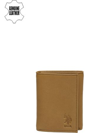 Ralph Lauren Men Brown Genuine Leather Three Fold Wallet