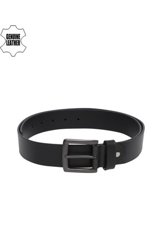 Mast & Harbour Men Belts - Men Black Solid Leather Belt