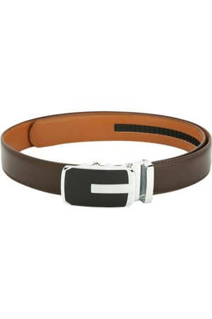Pacific Men Brown Leather Solid Belt