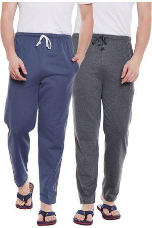VIMAL JONNEY Men Pack Of 2 Track Pants D1A_D6LGRAY_002