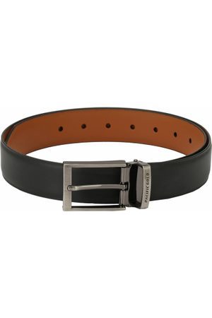Pacific Black and Brown Reversible 46 Inch Faux Leather Casual And Formal Men Belt