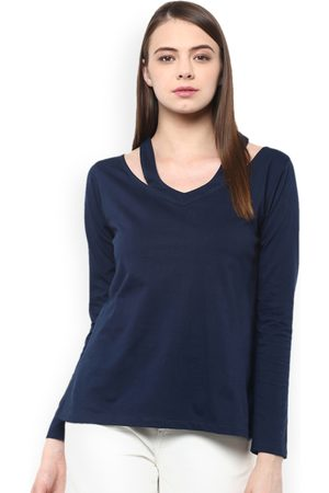 Miss Chase Women Blue Solid Top