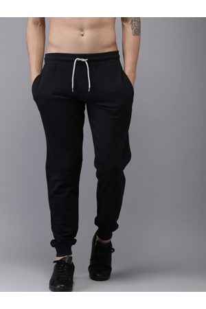 HERE&NOW Men Black Solid Joggers