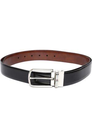 Tommy Hilfiger Men Black & Brown Leather Solid Reversible Belt