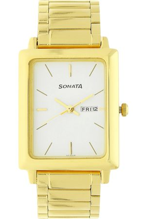 Sonata Office Wear Men White Analogue watch NL7078YM03