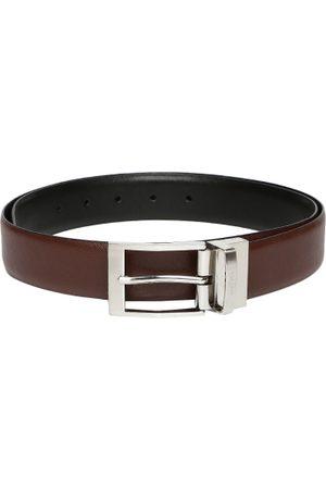 INVICTUS Men & Black Reversible Leather Belt