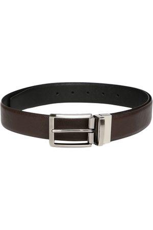 INVICTUS Men Brown & Reversible Leather Belt