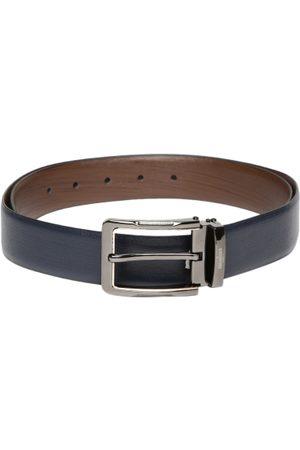 INVICTUS Men Navy & Brown Reversible Leather Belt