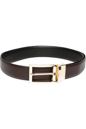 INVICTUS Men & Black Leather Belt