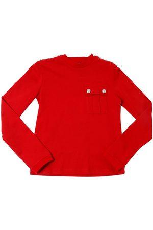 Balmain Cotton Jersey Long Sleeve T-shirt