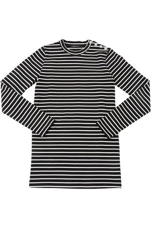 Balmain Striped Cotton Knit Dress