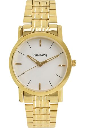 Sonata Men Gold-Toned Analogue Watch