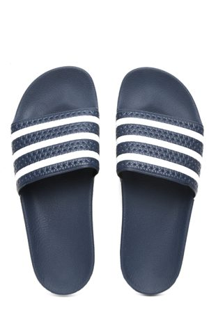 !Solid Men Navy Adilette Striped Flip-Flops