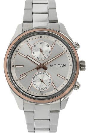 Titan Workwear Men Silver Analogue watch NL1733KM02
