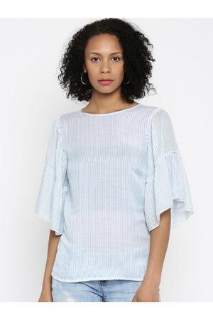 VERO MODA Blue & White Striped Top