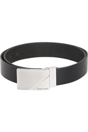 Benetton Men Black Textured Belt