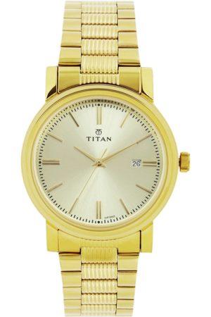 Titan Men Gold-Toned Dial Watch 1712YM03